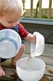 Juego del agua del verano Imágenes de archivo libres de regalías