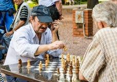 Juego del ajedrez foto de archivo