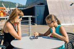 Juego del ajedrez al aire libre fotos de archivo libres de regalías