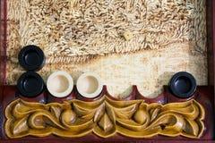 Juego del backgammon Foto de archivo libre de regalías