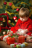 Juego del bebé con el actual rectángulo Fotos de archivo libres de regalías