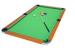 juego del billar de la piscina del ejemplo 3D Billar americano de la piscina Juego del billar de la piscina Concepto del deporte  Imágenes de archivo libres de regalías