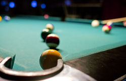 Juego del billar en el vector de piscina Imagen de archivo libre de regalías