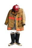Juego del bombero de Grunge Fotografía de archivo