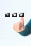 Juego del botón del presionado a mano imagen de archivo libre de regalías