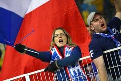 Juego 2014 del calificador del mundial de la FIFA Ucrania contra Francia Imagenes de archivo