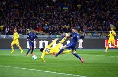 Juego 2014 del calificador del mundial de la FIFA Ucrania contra Francia Fotos de archivo