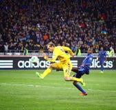 Juego 2014 del calificador del mundial de la FIFA Ucrania contra Francia Foto de archivo