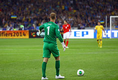 Juego 2014 del calificador del mundial de la FIFA Ucrania v Inglaterra Imagen de archivo