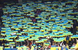 Juego 2014 del calificador del mundial de la FIFA Ucrania v Inglaterra Imágenes de archivo libres de regalías