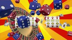 Juego del casino stock de ilustración