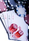 Juego del casino foto de archivo