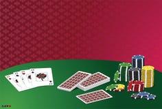 Juego del casino del póker. Imagen de archivo libre de regalías