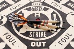 Juego del dardo del estilo del béisbol Imagen de archivo libre de regalías