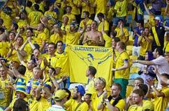 Juego 2012 del EURO de la UEFA Suecia contra Francia Foto de archivo libre de regalías