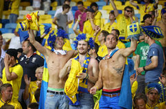 Juego 2012 del EURO de la UEFA Suecia contra Francia Fotografía de archivo libre de regalías