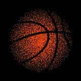 Juego del fondo de la tecnología del vector del baloncesto La cesta puntea actividad del elemento de la bola libre illustration
