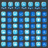 Juego del hielo y botones de los niveles Imagenes de archivo