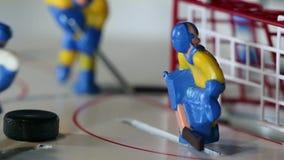Juego del hockey sobre hielo de la meta almacen de video