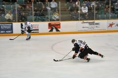Juego del hockey sobre hielo del NCAA Fotografía de archivo