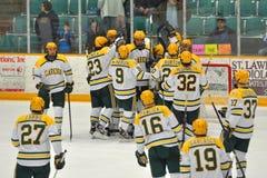 Juego del hockey sobre hielo del NCAA en la universidad de Clarkson Fotos de archivo
