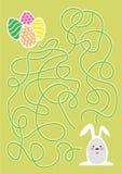 Juego del laberinto de Pascua o página de la actividad para los niños stock de ilustración