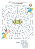 Juego del laberinto para los niños - pequeños payasos libre illustration