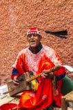 Juego del músico un Hajjuj en Marruecos Fotografía de archivo libre de regalías
