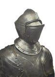 Juego del metal de la armadura aislado. Fotografía de archivo