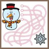 Juego del muñeco de nieve Fotografía de archivo
