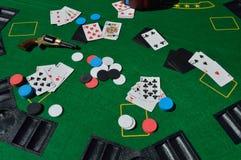 Juego del póker Imagenes de archivo
