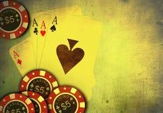 Juego del póker ilustración del vector