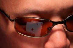 Juego del póker con los as del bolsillo Fotos de archivo libres de regalías