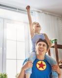Juego del padre y de la hija Foto de archivo libre de regalías