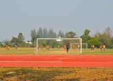 Juego del partido de fútbol del fútbol Fotos de archivo libres de regalías