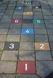 Juego del pavimento del Hopscotch Imagen de archivo