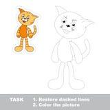 Juego del rastro para los niños Un gato de la historieta a ser Foto de archivo