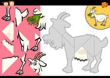 Juego del rompecabezas de la cabra de la granja de la historieta Imagen de archivo libre de regalías
