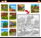 Juego del rompecabezas de los animales salvajes ilustración del vector