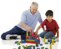 Juego del suelo con el Grandpa imagen de archivo libre de regalías