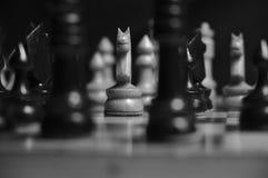 Juego del tema del ajedrez Imágenes de archivo libres de regalías