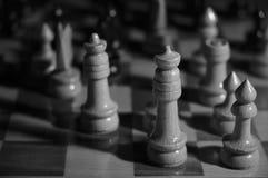 Juego del tema del ajedrez Foto de archivo