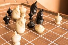 Juego del thr del juego para el ajedrez Imagen de archivo