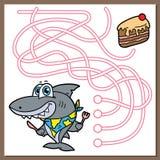 Juego del tiburón stock de ilustración