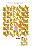Juego dominante y bloqueado del laberinto de las puertas ilustración del vector