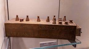 Juego egipcio de Senet imagen de archivo libre de regalías
