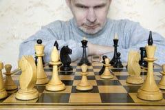 Juego en ajedrez. Imagen de archivo