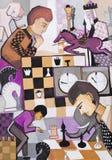 Juego en ajedrez ilustración del vector