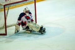 Juego en hockey del trineo del hielo Imágenes de archivo libres de regalías