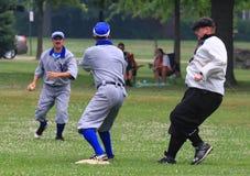 Juego en la segunda base Foto de archivo libre de regalías